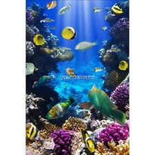 Magnet Frigo déco Petits poissons et corail 60x90cm réf 6234 6234