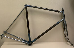 SPECIAL ALLEGRO FRAME AND FORK 58 CM FRENCH THREADING REYNOLDS CAMPAGNOLO DROPS