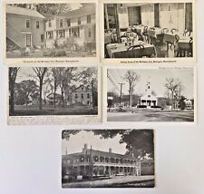 MONTAGUE, MA 5 Vintage Postcards Hotel Montague Inn Town Hall Montague Common