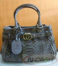 BIG SALE! AUTHENTIC $2850 GUCCI Brown Python GG Running Medium Satchel Bag
