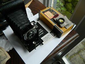 Kodak Six-20 Junior Folding Camera with instructions,  &  Filters in Box