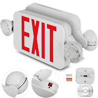 4 Pack Emergency Lights Red EXIT Sign W/Dual LED Lamp Workshops Schools Hotels