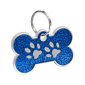 20pcs/lot Glitter Bone Shape Dog Tags Pet ID Collar No Engraving Tags Blank Disc