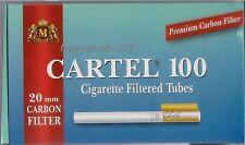 Empty Cigarette 5 BOX CARTEL 500 Filtered Cigarette Tubes 20mm CARBON FILTER