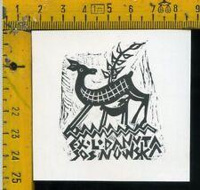 Ex Libris Originale Alexandro Radulescu c 094