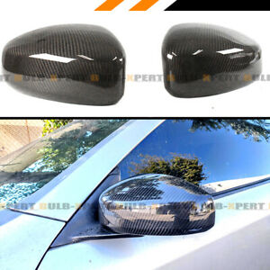 FOR 2003-2007 INFINITI G35 COUPE CARBON FIBER JDM DIRECT ADD-ON MIRROR COVER CAP