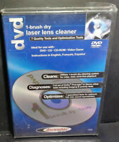 NEW Discwasher CD & DVD Laser Lens Cleaners (1-brush; Dry) Fast FREE Shipping