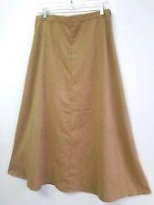 5e585db42c Chicos Womens Skirt Size 2 L 12 Long Modest A-line Skirt Light Brown