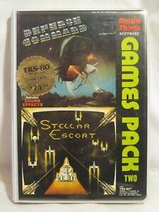 vintage Radio Shack Software Games Pack Two TRS-80 16K tape Defense Escort