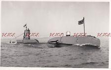 "ORIGINAL Photograph Royal Navy. HMS ""Scotsman"" Submarine. WW11. 1949"