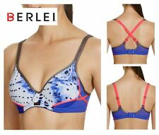 Berlei Electrify Wild Corrosion Blue Underwired Padded Sports Bra Yzf9 38 C
