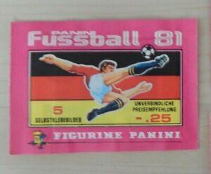 1 Tüte  Panini Fussball 81  1981   OVP