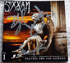 Nikki Sixx Motley Crue Sixx A.M. Prayers For The Damned CD Signed By All 3 Auto