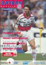 Bayern München + Schalke + Programm Magazin +11.03.2000