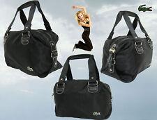 LACOSTE Womens Small Bowling Bag HANDBAG New Sorbonne 8 Black AUTHENTIC **