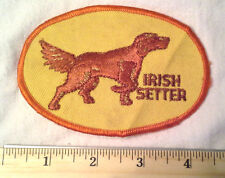 IRISH SETTER Dog Breed Vintage Collectible Souvenir Patch