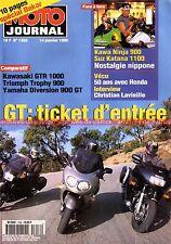MOTO JOURNAL 1358 TRIUMPH Trophy 900 GPZ KAWASAKI GTR 1000 YAMAHA XJ Diversion