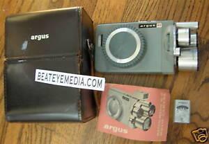 VINTAGE ARGUS M3 MOVIE CAMERA-8MM-NEAR MINT-FILM,KODAK,arri,photography,films