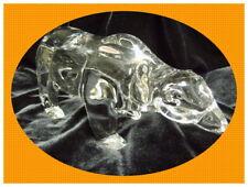 ***prächtiger Bär*** Bleikristall Glas Figur groß & schwer wie NEU