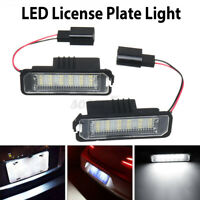 2Pcs 12V LED License Plate Light for VW Golf Lupo Polo Passat Suoerb par