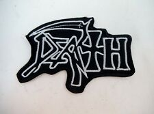 "DEATH 3"" Iron On Embroidered Patch Speed Thrash Black Heavy Metal GOTH Punk"