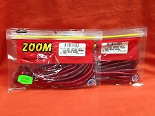 ZOOM Ultra Vibe Speed Worm (15cnt) #018-270 Red Bug Shad (2 PCKS)