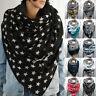 Scarf Women Star Printing Button Wrap Warm Scarves Shawls Multi-purpose Shawl uk