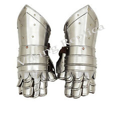 Gloves Knight Medieval Gauntlets Armor Metal Plate Pair