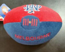 AFL 18cm Plush Football Soft Footy Toy Official Melbourne Demons