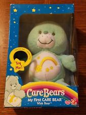 2004 my first care bear super soft musical chime wish bear new in package