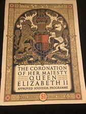 THE CORONATION OF HER MAJESTY QUEEN ELIZABETH ll SOUVENIR PROGRAM JUNE 2 1953