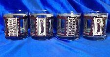 Vintage Roaring Twenties Film Classics Whiskey Liquor Glasses Highball Set Of 4