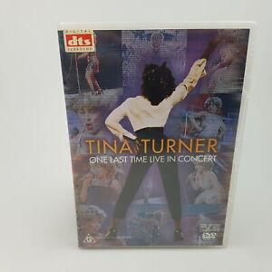 Tina Turner One Last Time Live Concert DVD VGC R0