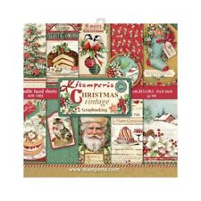 "NEW Stamperia 8"" x 8"" Paper Sheets Christmas Vintage"
