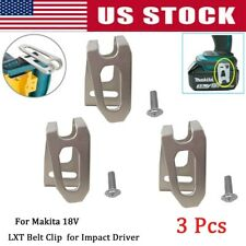 3x BELT CLIP HOOK & SCREW FOR MAKITA 18V LXT CORDLESS DRILLS IMPACT DRIVERS