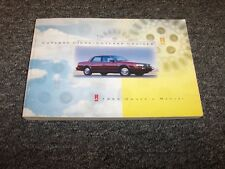 1993 Oldsmobile Cutlass Ciera & Cruiser Sedan Owner's Owner Guide Manual S SL
