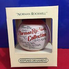 Hallmark Unbreakable Satin Ball Ornament Norman Rockwell 1982 NEW