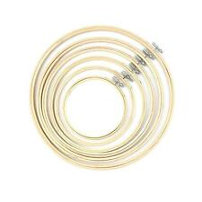 Wooden Cross Stitch Machine Embroidery Hoop Ring Bamboo Sewing 13-27cm #6