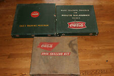 3 RARE Coca-Cola Selling Kits 1955 Kit, Sales Training Program, Route Salesmen 2