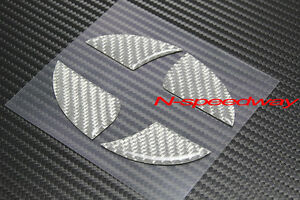 For Scion xB xD, (11~16 tC) Gray Carbon Fiber Hood Or Trunk Emblem Decal Insert