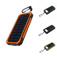 300000mAh Portable Solar Powered 2-USB Battery Charger Power Bank For Cell Phone