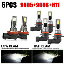 Combo LED Mini 9005+9006+H11 Headlight Kit Bulb High Low Beam 240W 60000LM 6000K