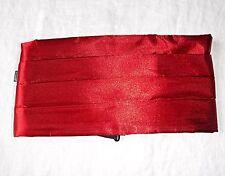 STYLISH VINTAGE DEEP RED SATIN CUMMERBUND  PROMS EVENING 32 - 35 INCH WAIST