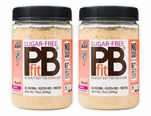 PBfit Sugar-Free Peanut Butter Powder 13 Ounce Pack of 2
