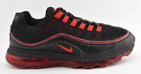MENS NIKE AIR MAX 24/7 RUNNING SHOES SIZE 10 BLACK RED 397252 066