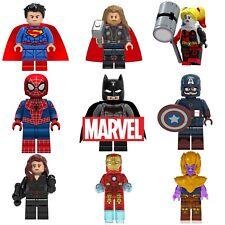 Marvel Avengers Custom Lego Mini Figures DC Superhero Iron Man Thor Batman