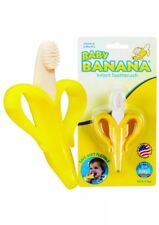 Baby Banana fruit Infant Training Toothbrush and Teether Yellow Brand New