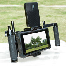 """CAMVATE 5"""" & 7"""" inch DSLR Camera Director LCD Monitor Cage Kit w/ Battery Plate"""