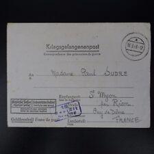 LETTRE PRISONNIER DE GUERRE STALAG IV F -> SAINT MYON KRIEGSGEFANGENENPOST POW
