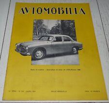 AUTOMOBILIA N°538 1951 ALFA-ROMEO 1900 PARIS-ST RAPHAËL SALON GENEVE LE CAP